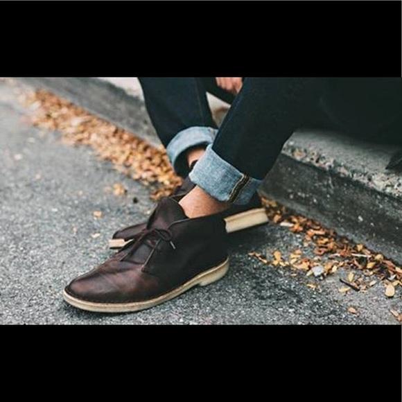 c9b72cd9404 Clarks dark brown Bushacre 2 chukka boots NWT NWT
